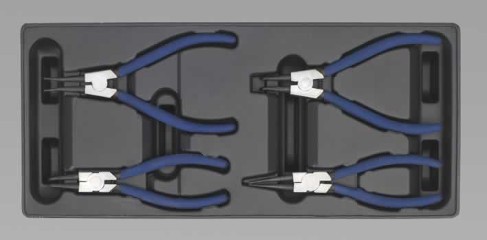 Tool Tray with Circlip Pliers Set 4pc(AHA)
