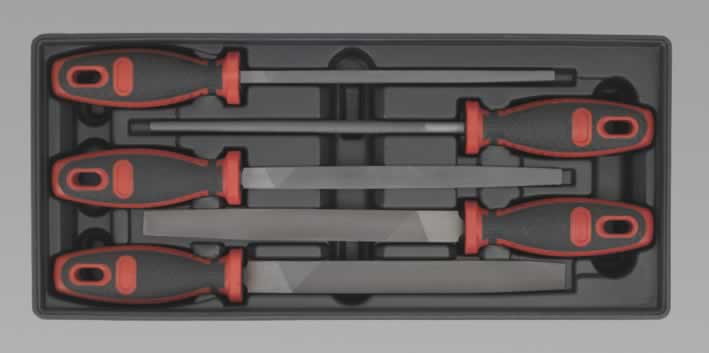 Tool Tray with Engineer's File Set 5pc