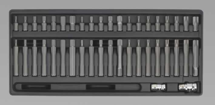 Tool Tray with TRX-Star/Spline/Hex Bit Set 42pc