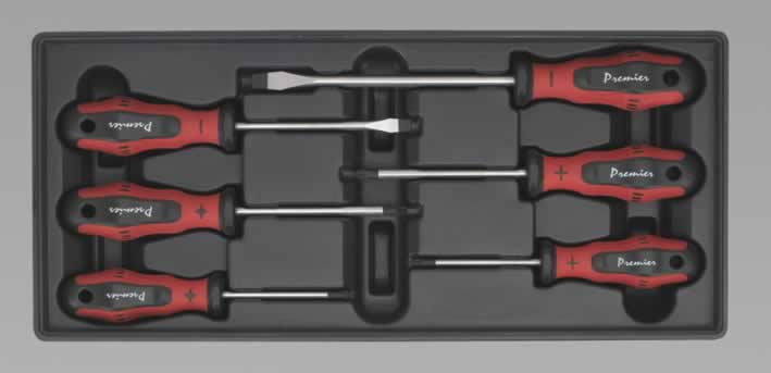 Tool Tray with Screwdriver Set 6pc