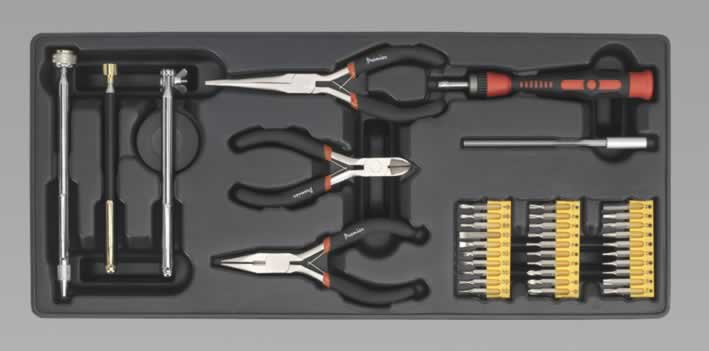 Tool Tray with Precision & Pick-Up Tool Set 38pc