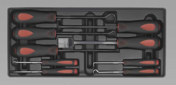 Tool Tray with Scraper Set 9pc