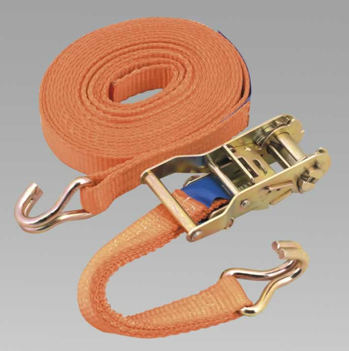 Ratchet Tie Down 1pc 25mm x 6mtr Polyester Webbing 1500kg Load Test  (AHA)