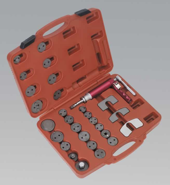 Air Operated Brake Piston Wind-Back Tool Kit 29pc