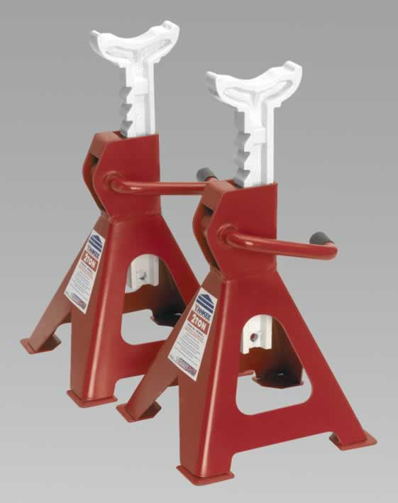 Axle Stands 2tonne Capacity per Stand 4tonne per Pair Ratchet Type