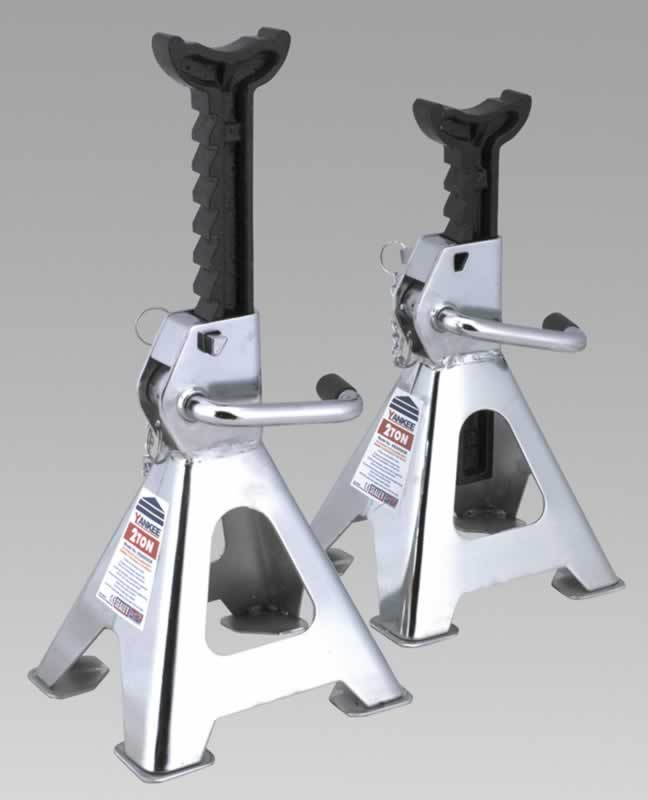 Axle Stands 2tonne Capacity Each 4tonne per Pair GS/TUV Chrome Plated