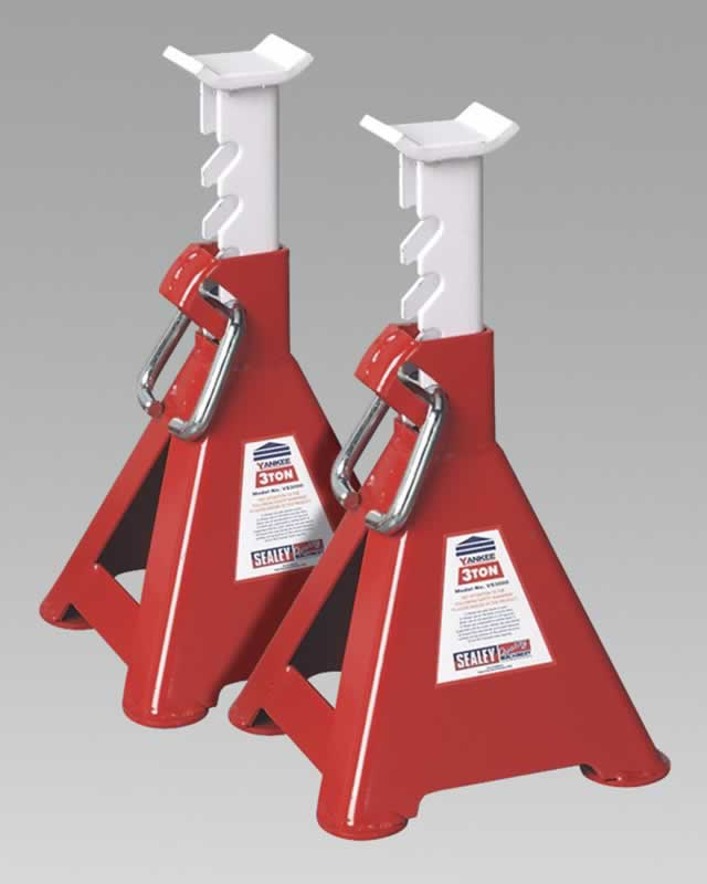 Axle Stands 3tonne Capacity per Stand 6tonne per Pair Ratchet Type