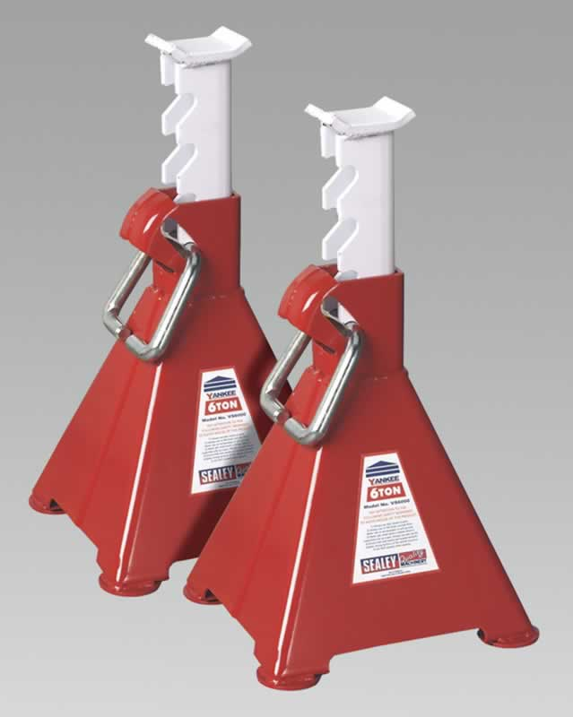 Axle Stands 6tonne Capacity per Stand 12tonne per Pair Ratchet Type