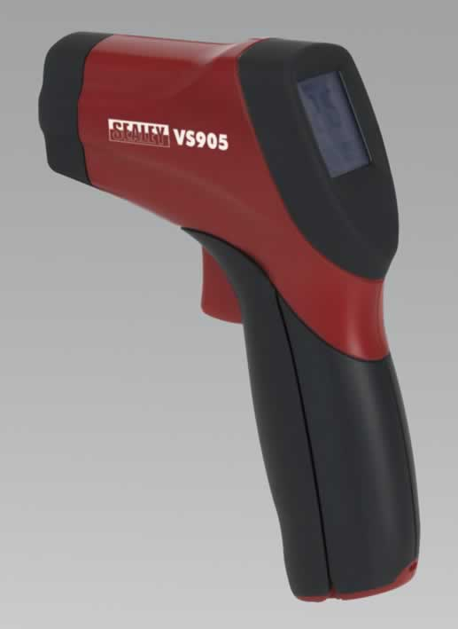 Infrared Twin-Spot Laser Digital Thermometer 12:1   (AHA)