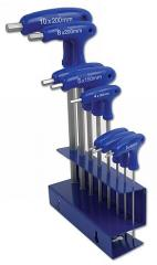 Hex Key Set - T Handle/Ball End 8pc    (AHA)