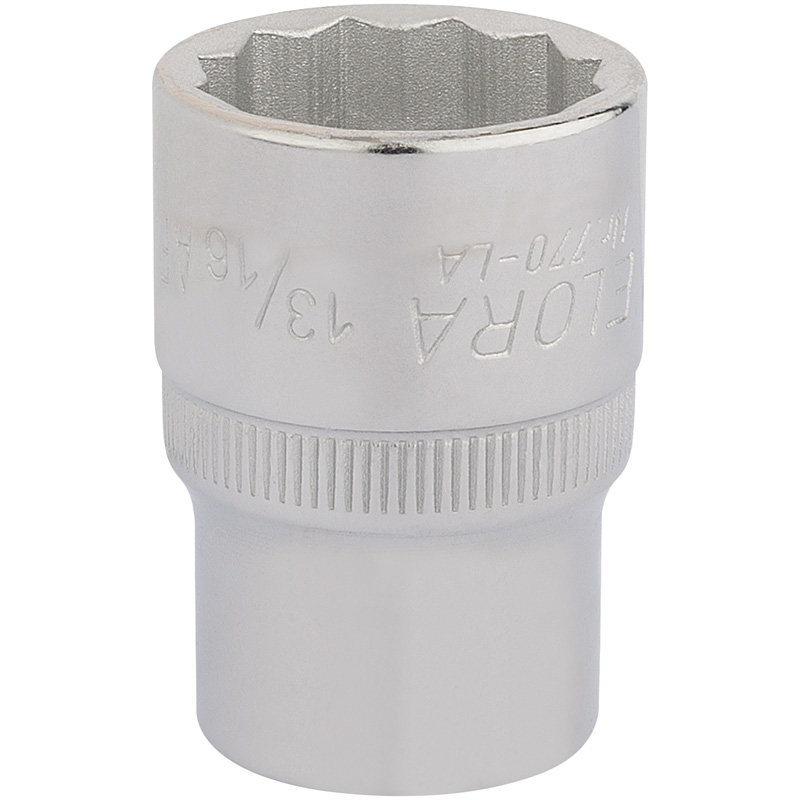 "13/16"" 1/2"" SQUARE DRIVE ELORA BI-HEX SOCKET  (7-20)"