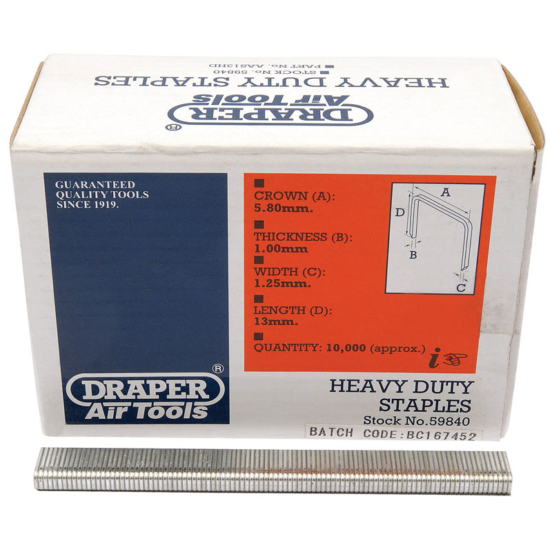 13MM HEAVY DUTY STAPLES (10000)   (AHCC)