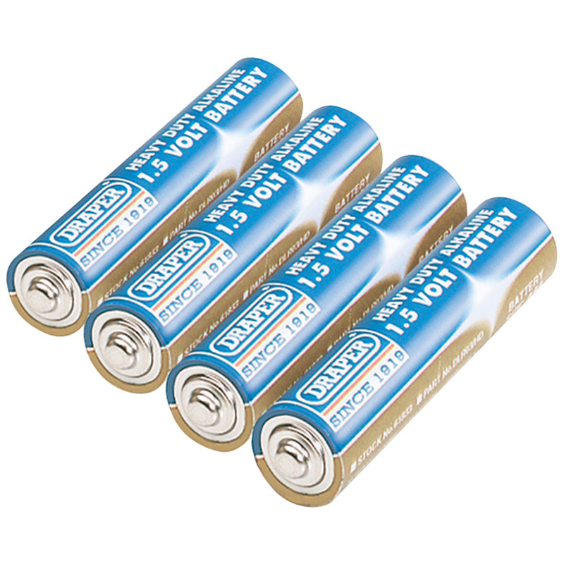 4 HEAVY DUTY AAA-SIZE ALKALINE BATTERIES  (AHA)