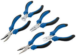 5 PIECE SOFT GRIP MINI PLIERS SET  (G)