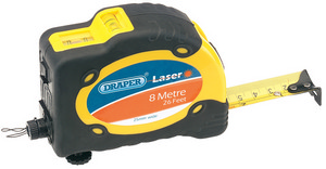 8M16Ft Measuring Tape With Integral Laser Level