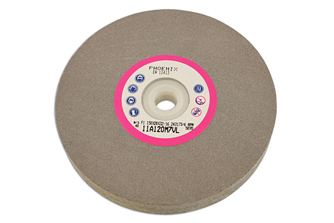 Abracs Bench Grinding Wheel 150mm x P120 - Pack 1   (10-20)