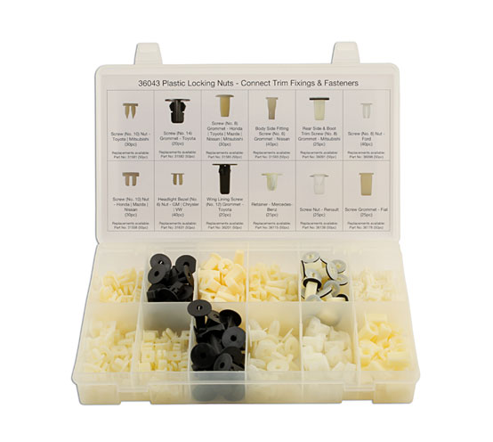Assorted Plastic Locking Nuts 350 pc   (AHA)