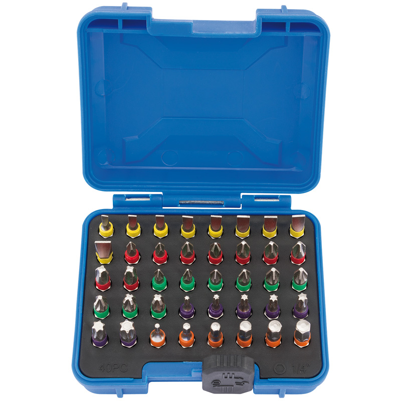 COLOURED SCREWDRIVER BIT SET (40 PIECE)   (AHC)
