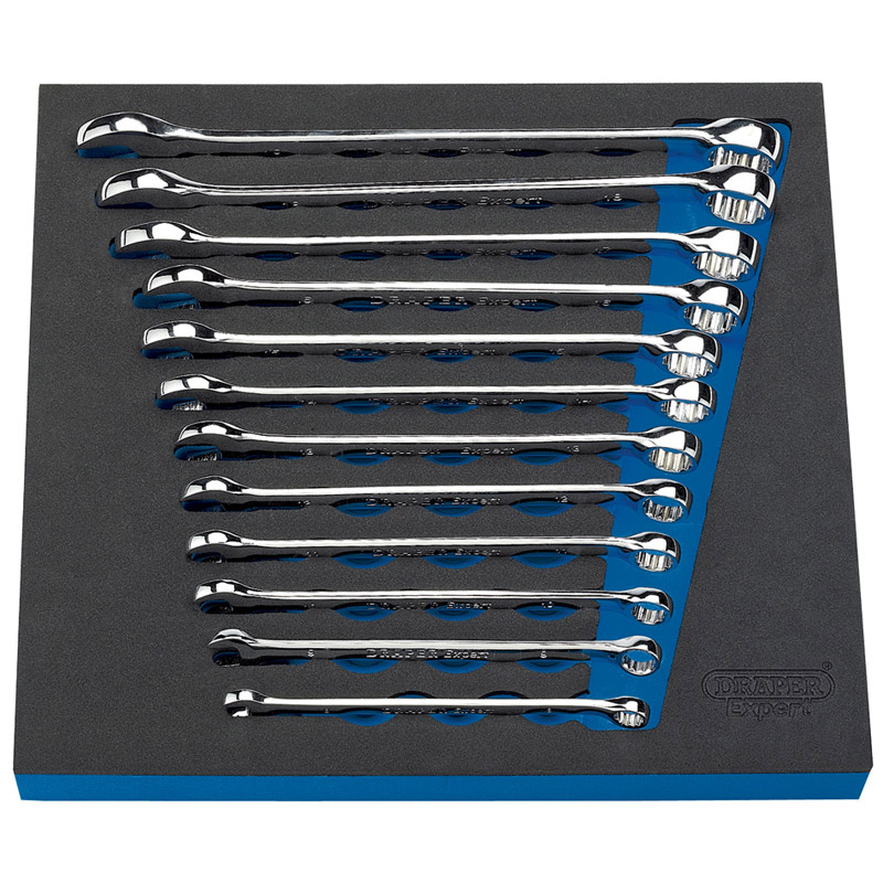 EVA FOAM TRAY 12PC SPANNER SET   (aha)