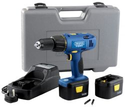 EXPERT 14.4V ELECTRONIC CORDLESS COMBINATION HAMMER DRILL 2 BATTERIES  (AHA)