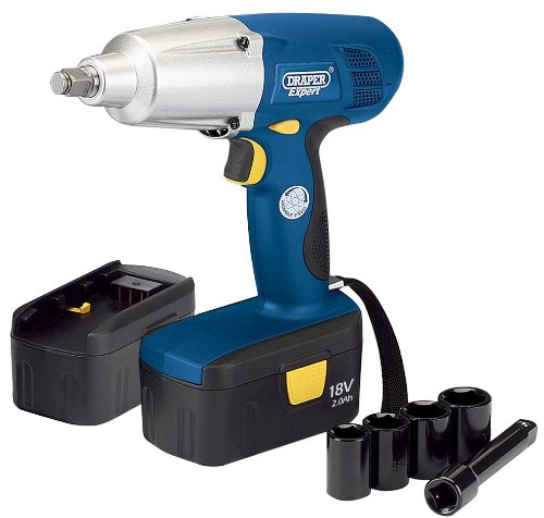 "EXPERT 18V CORDLESS 1/2"" SQ. DR. IMPACT WRENCH WITH TWO BATTERIES AND CASE (AHA)"