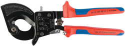 250MM KNIPEX RATCHET ACTION CABLE CUTTER   (G)