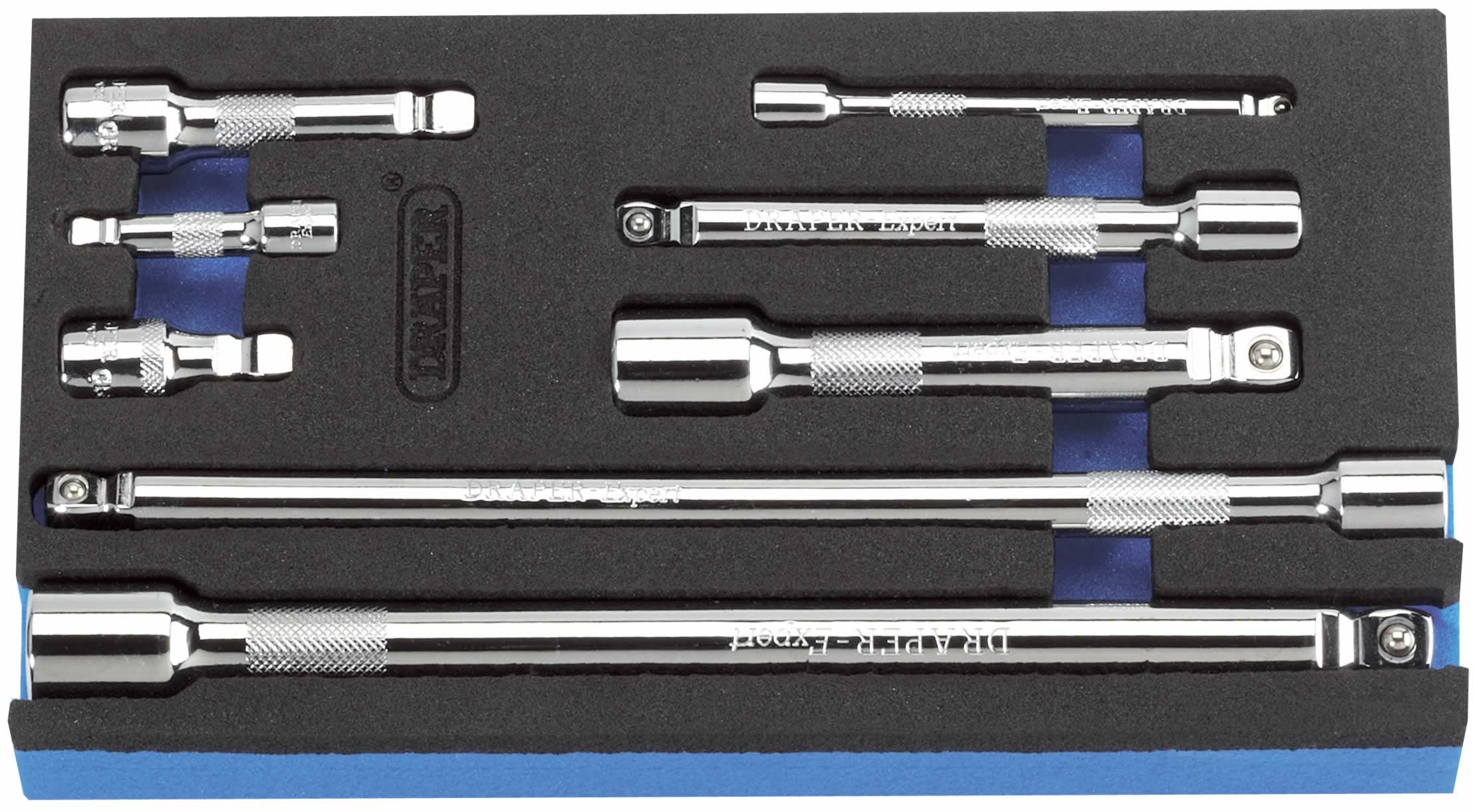 "EXPERT 8 PIECE 1/4, 3/8, 1/2"" Sq. Dr. WOBBLE BAR SET  (CC)"