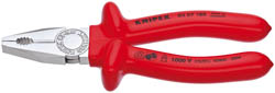 KNIPEX 180MM FULLY INSULATED  S RANGE COMBINATION PLIERS  (G)