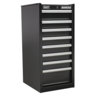 Hang-On Chest 8 Drawer with Ball Bearing Runners - Black  (AHA)
