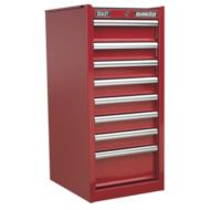 Hang-On Chest 8 Drawer with Ball Bearing Runners - Red   {AHA}