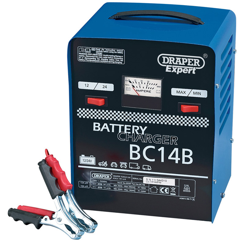 Expert 12V/24V 12A Battery Charger   (AHA)