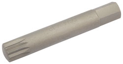 Description .......: M12 XZN BIT 10MM HEX X 75MM 		(G)