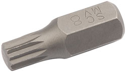 Description .......: M8 XZN BIT 10MM HEX X 30MM 		(G)