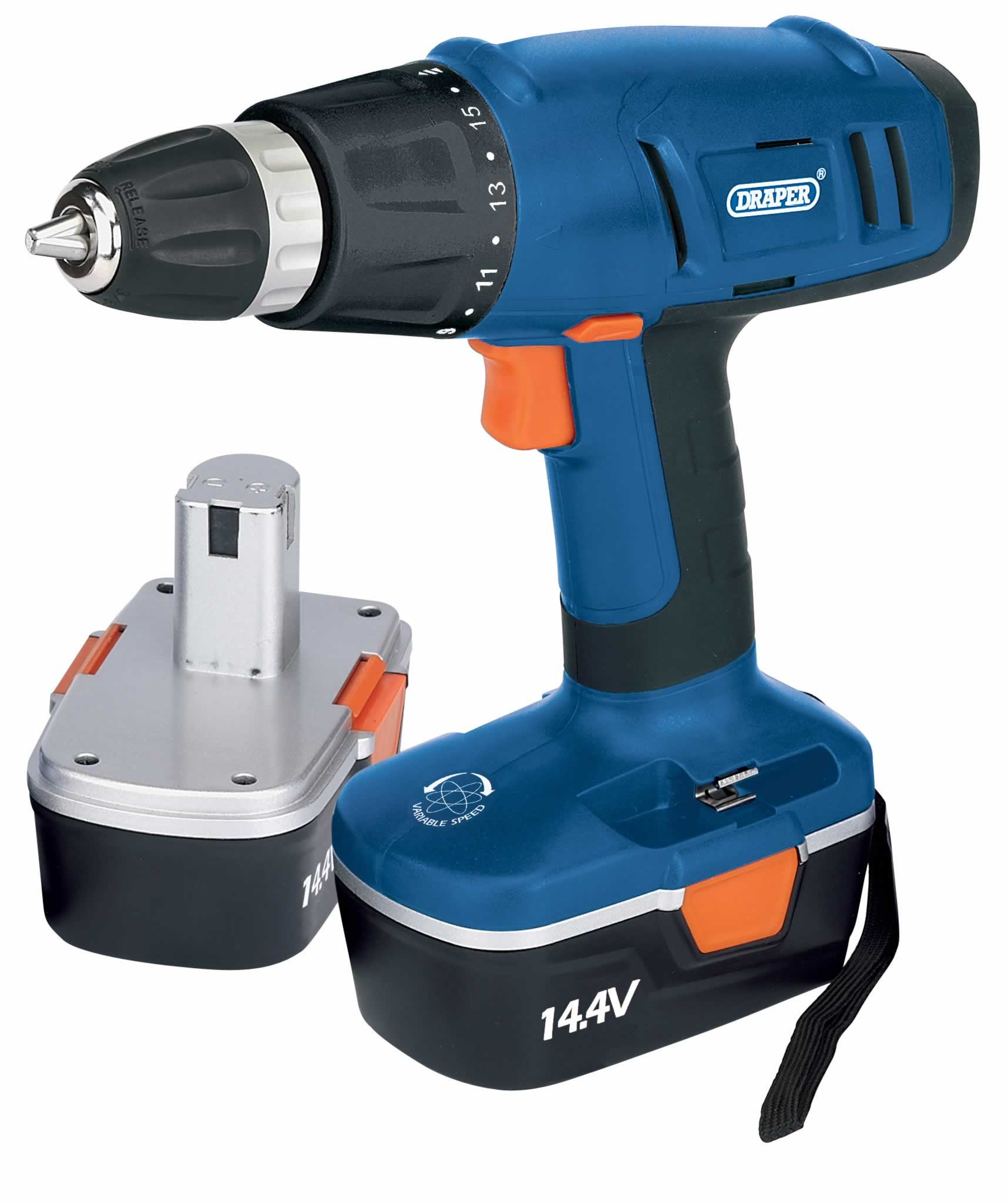 14.4V CORDLESS ROTARY DRILL WITH TWO BATTERIES