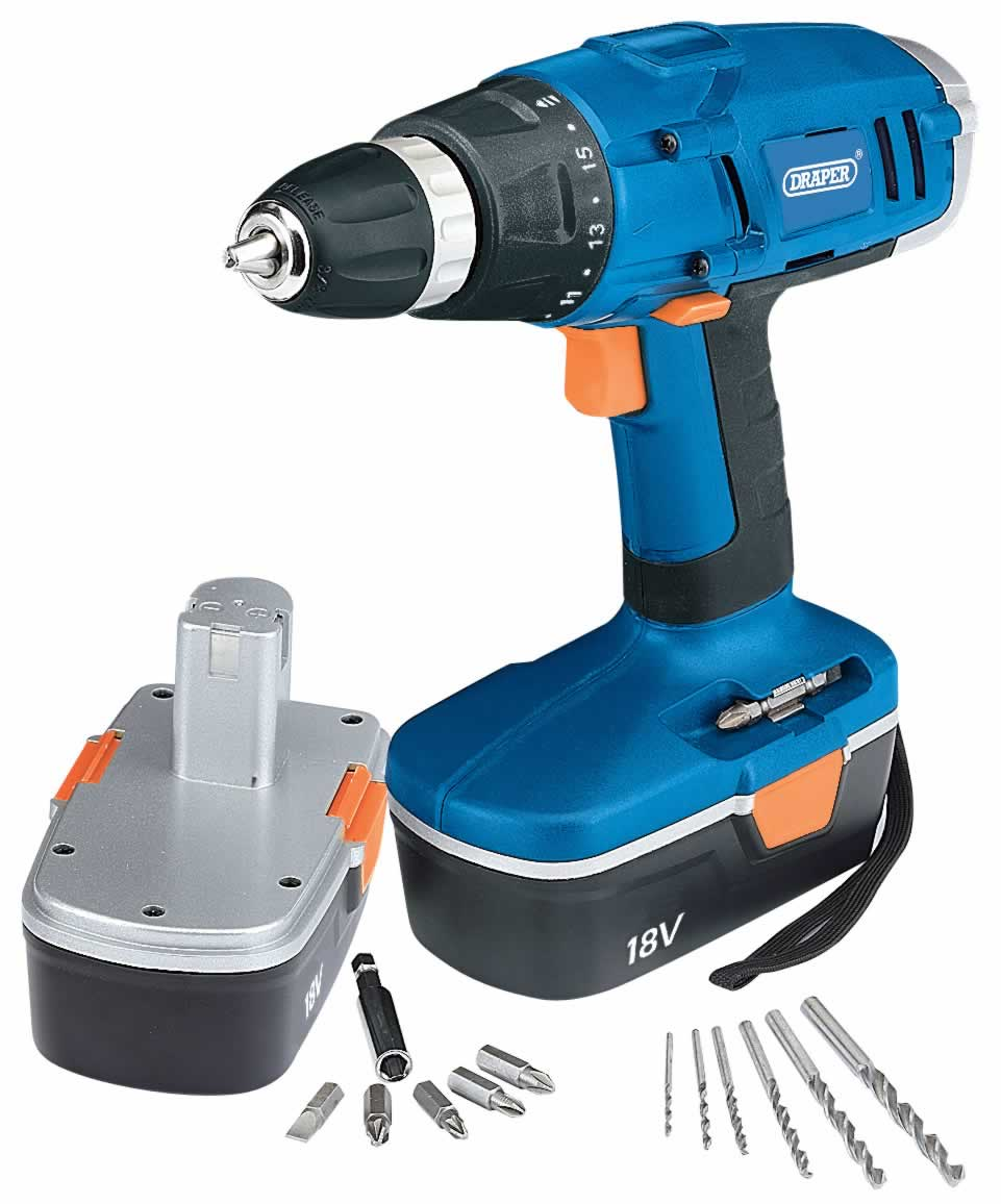 18V CORDLESS ROTARY DRILL KIT WITH TWO BATTERIES