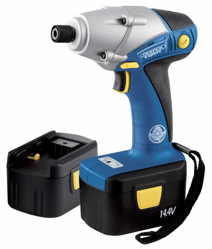 EXPERT 14.4V CORDLESS IMPACT DRIVER WITH TWO Ni-CD BATTERIES