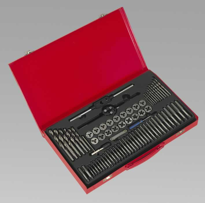 Tap & Die Set Split Dies 76pc Metric