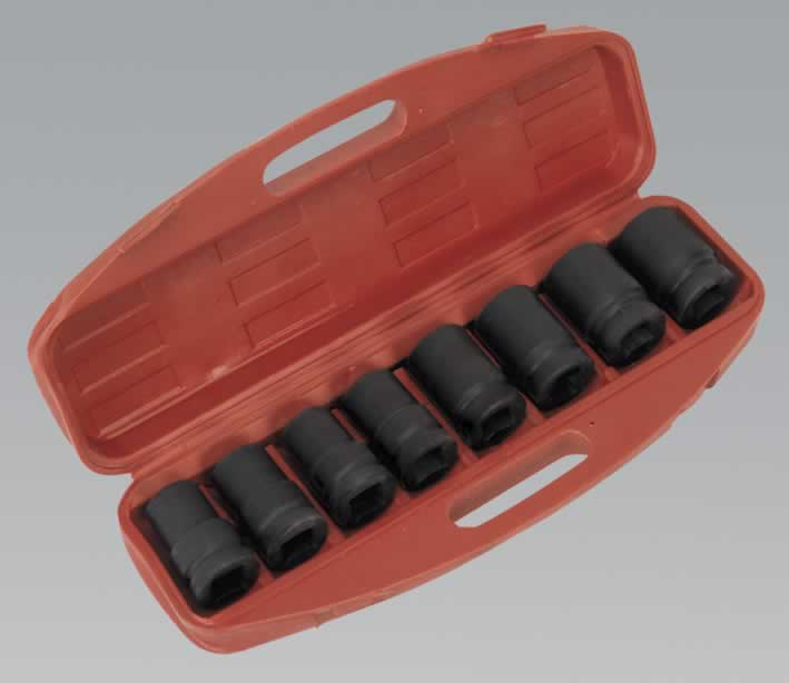 "Impact Socket Set 8pc Deep 1""Sq Drive - Metric"