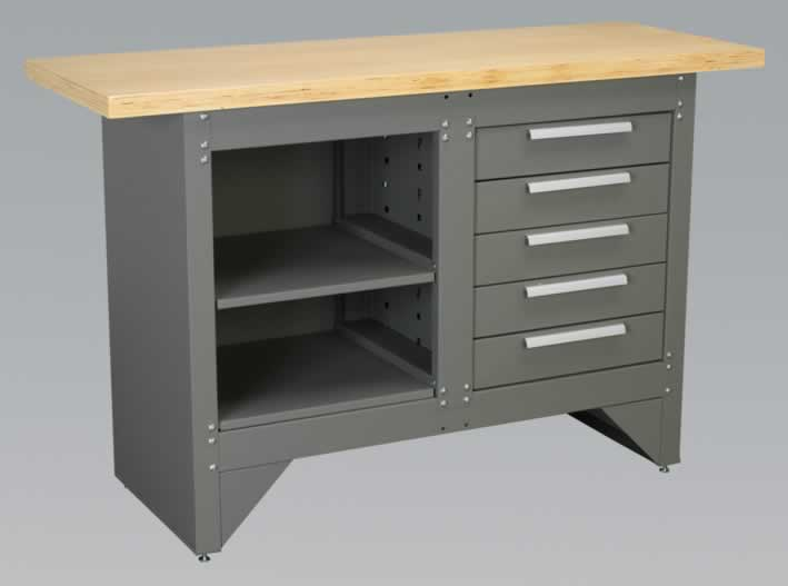 Workbench with 5 Drawers - Ball Bearing Runners Heavy-Duty  (AHA)