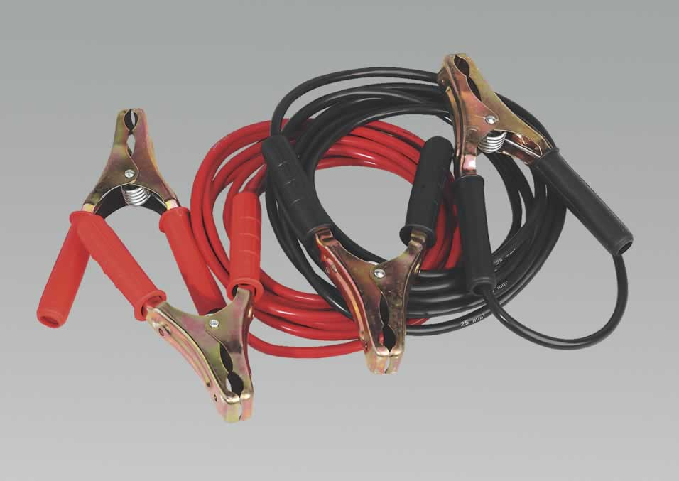 Booster Cables 5.0mtr 600Amp 25mm² Heavy-Duty Clamps