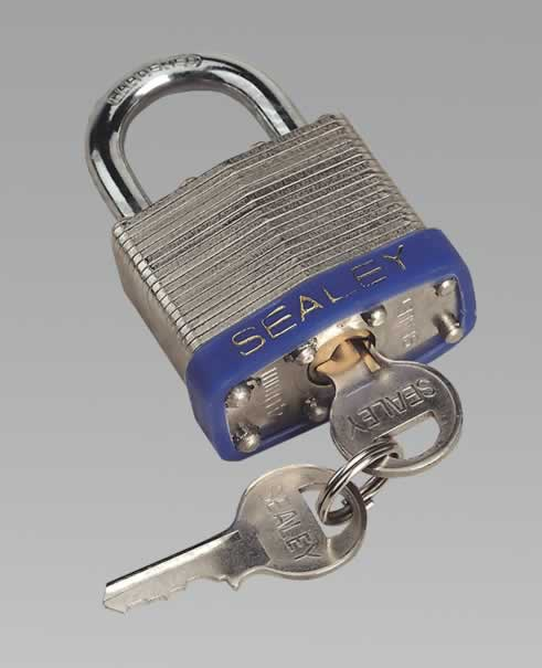 Padlock Laminated Steel with Brass Cylinder 40mm