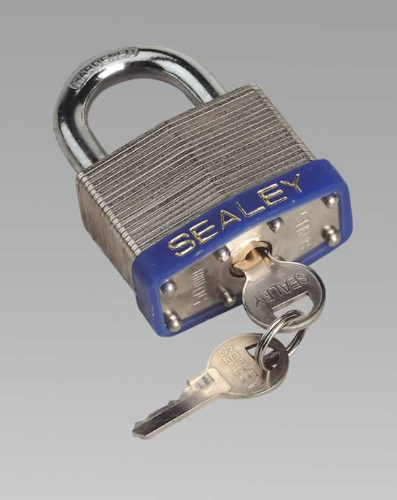 Padlock Laminated Steel with Brass Cylinder 50mm