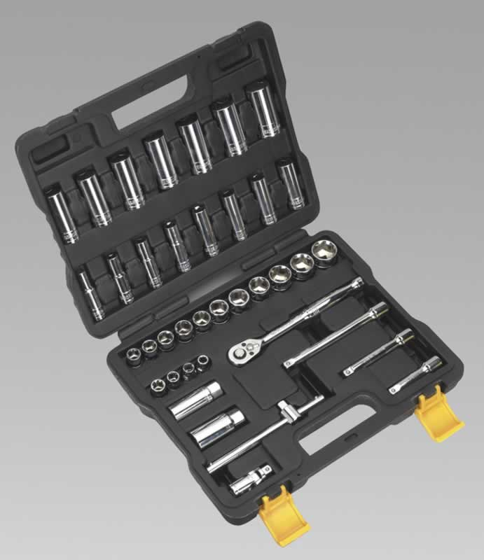 "Socket Set 38pc 3/8""Sq Drive Metric"