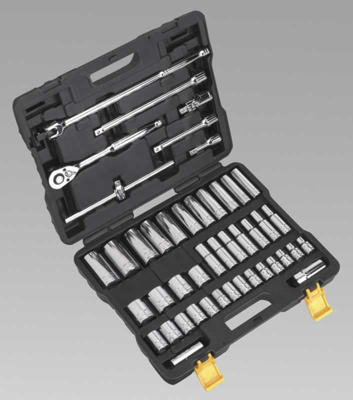 "Socket Set 45pc 1/2""Sq Drive Metric"
