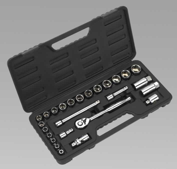 "Socket Set 26pc 3/8""Sq Drive Metric"