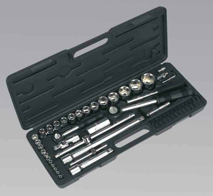 "Socket Set 52pc 1/4"" & 1/2""Sq Drive Metric"