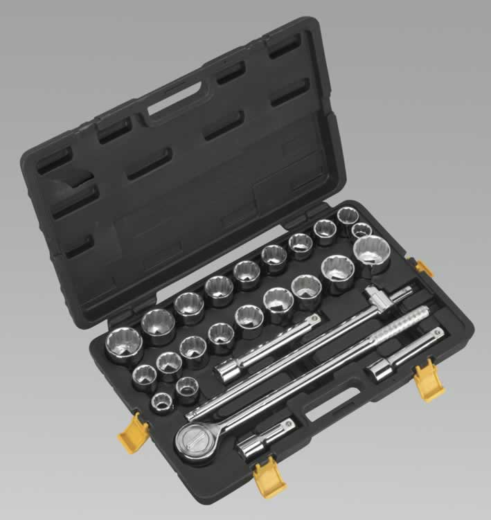 "Socket Set 26pc 3/4""Sq Drive Metric/Imperial"