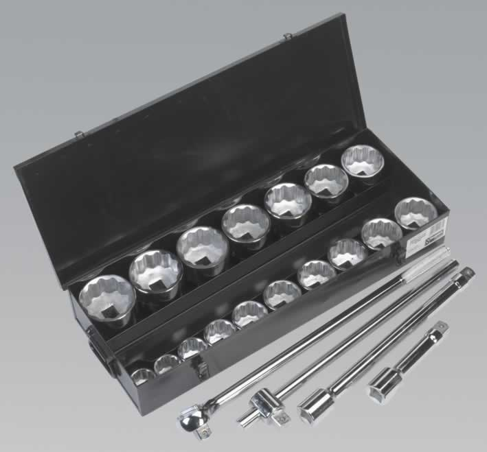 "Socket Set 21pc 1""Sq Drive Metric"