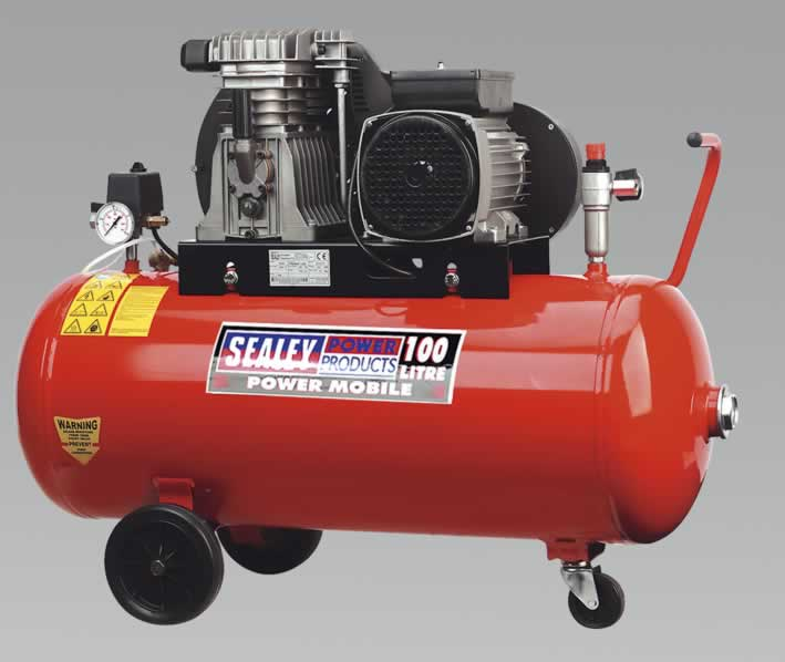 Compressor 100ltr Belt Drive with Alloy Cylinders 3.0hp