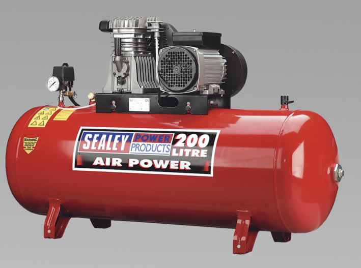 Compressor 200ltr Belt Drive with Alloy Cylinders 3.0hp